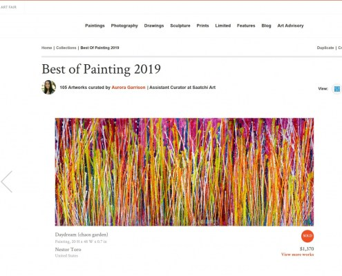 Nestor Toro's painting was selected as one of the Saatchi Art's Best of the Year 2019 collection!