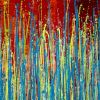 SOLD - Daring natural synergy | Energetic abstract painting by Nestor Toro (2020)