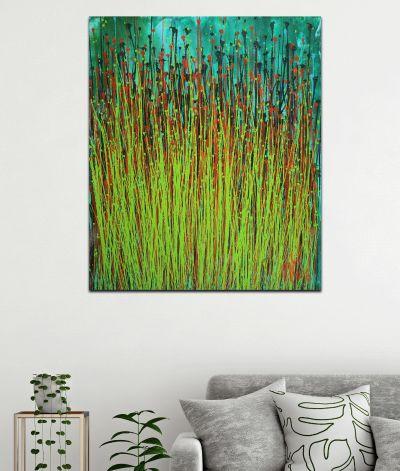 SOLD -Forest Storm (Green Garden) by Nestor Toro