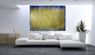 Room View - Thunder silhouettes (Golden Spectra) by Nestor Toro 2020