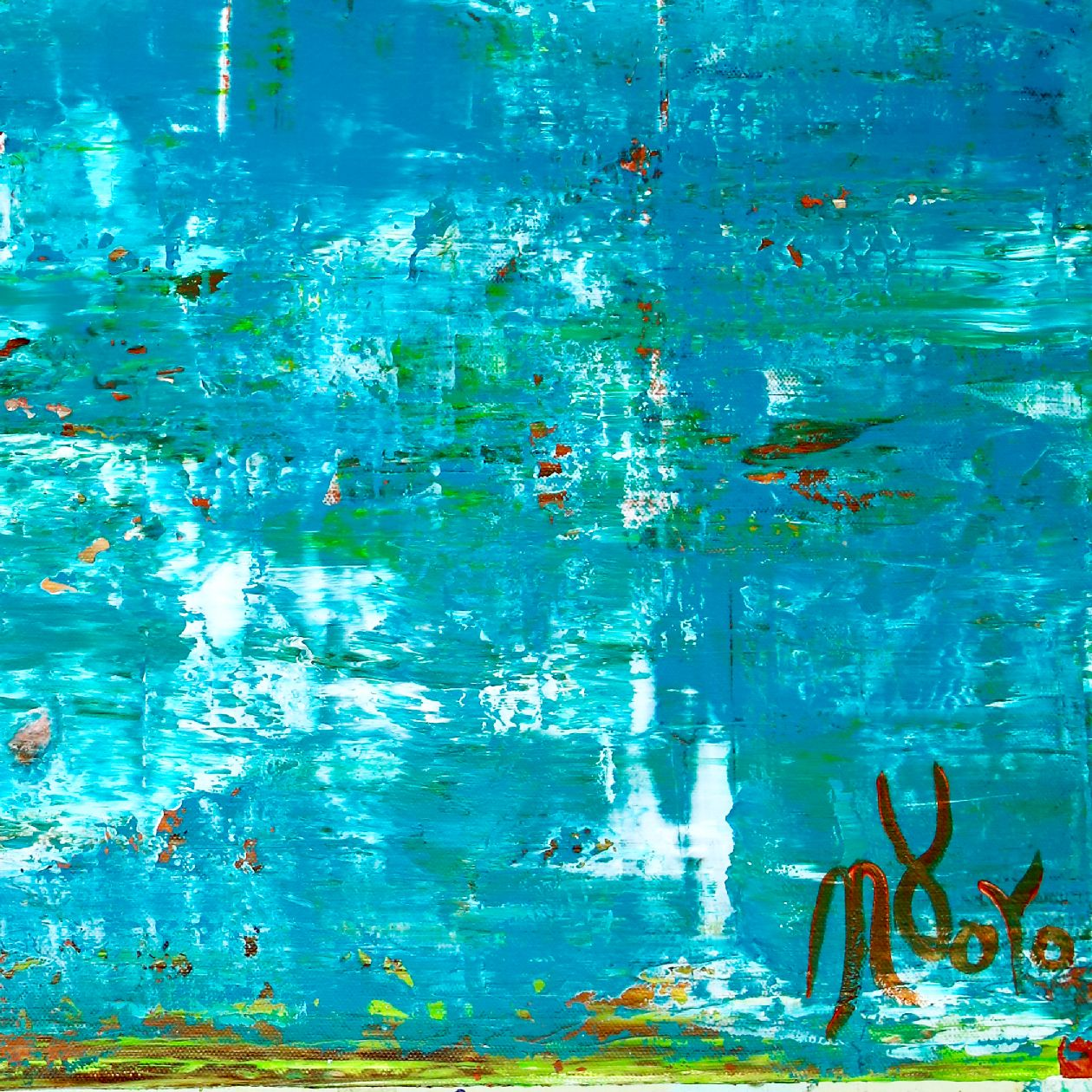 Sky walking 7 | Inspired by nature abstract (2020) Abstract Expressionist painting by Nestor Toro