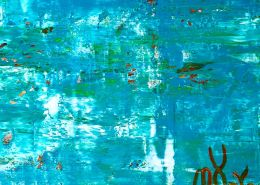 SOLD - Sky walking 7 | Inspired by nature abstract (2020) Abstract Expressionist painting by Nestor Toro