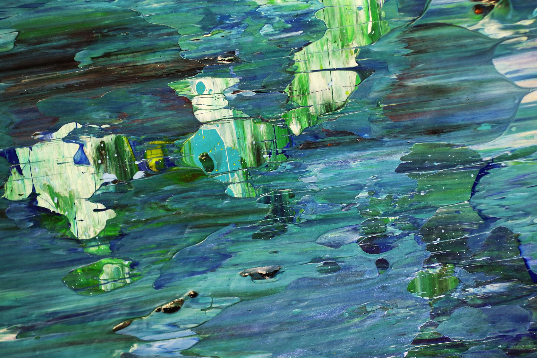 Detail - Blue satin waves 2 by Nestor Toro - 2020 - SOLD