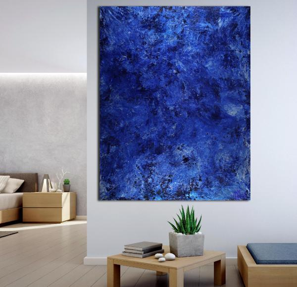 Rotating out in space | Large minimalist painting (2020) by Nestor Toro