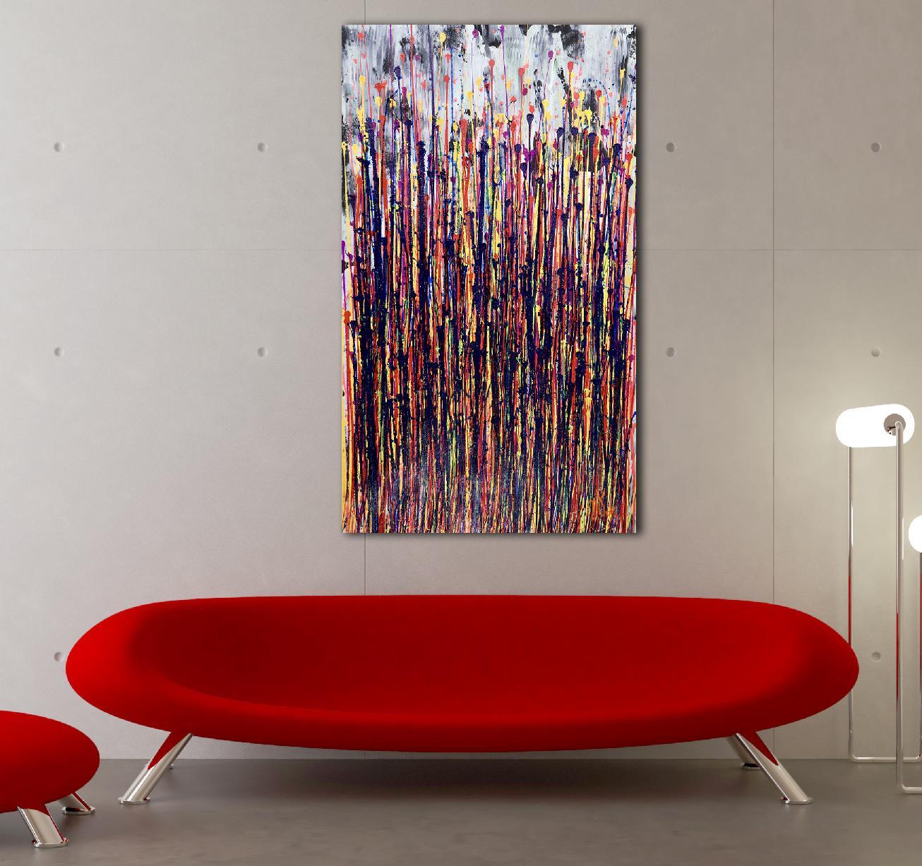Illuminating Garden Spectra 2 (2020) Abstract painting by Nestor Toro