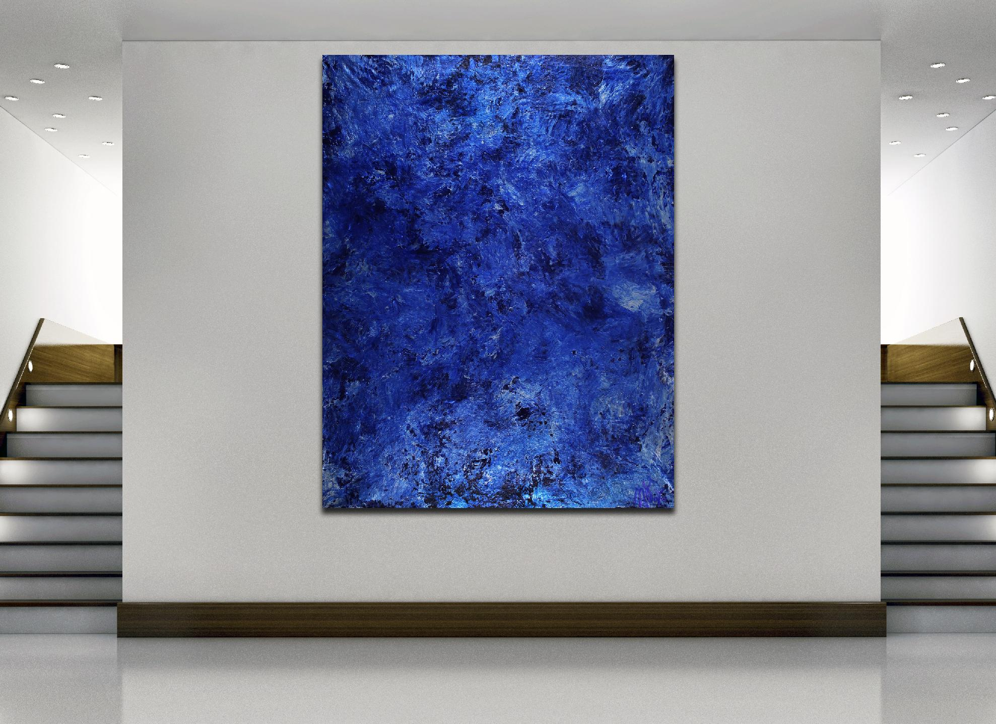 Room View - Rotating out in space | Large minimalist painting (2020) by Nestor Toro