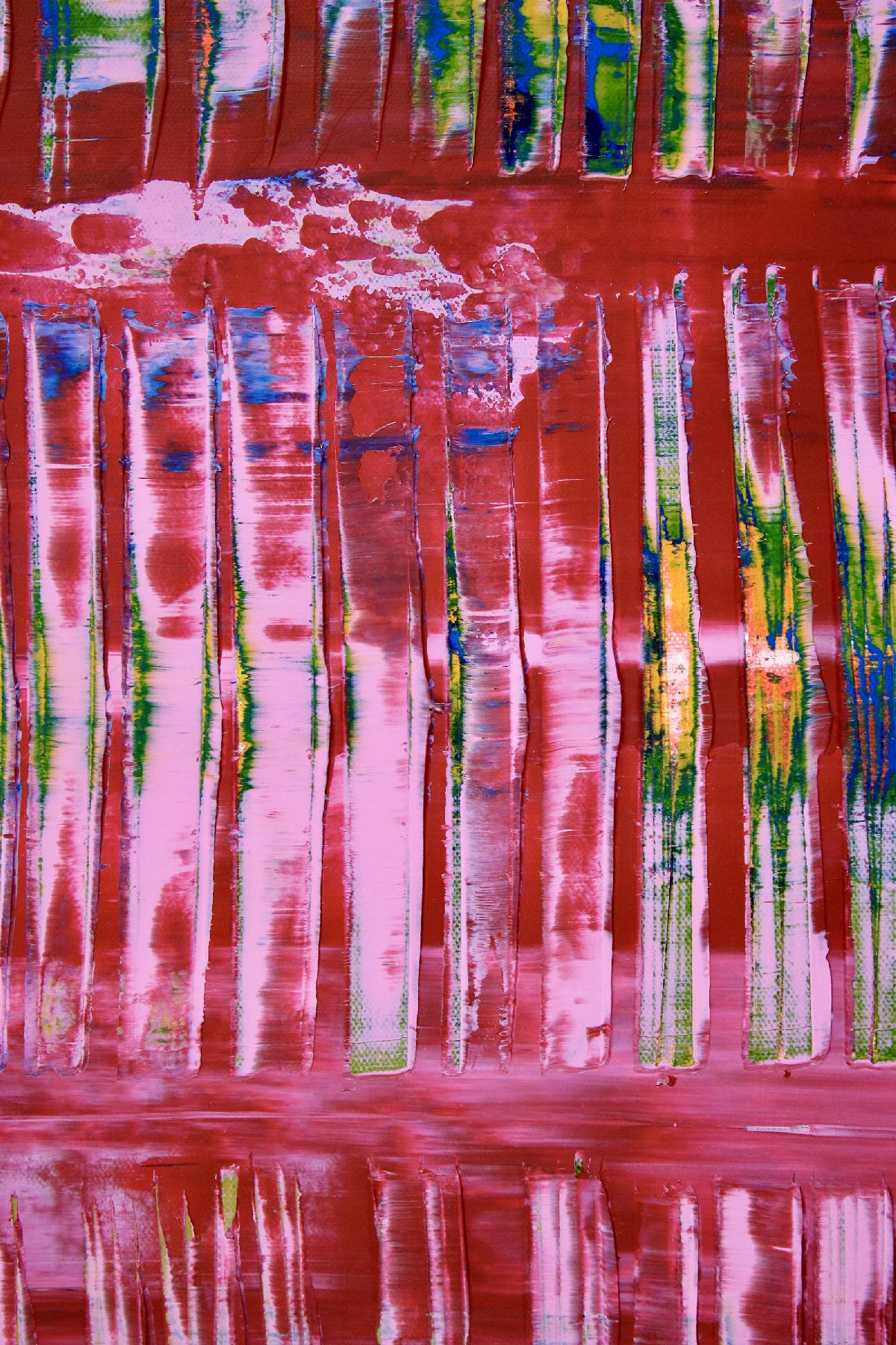 Detail View - Full Canvas View - Pink Takeover (Blue Lights) 2020 by Nestor Toro