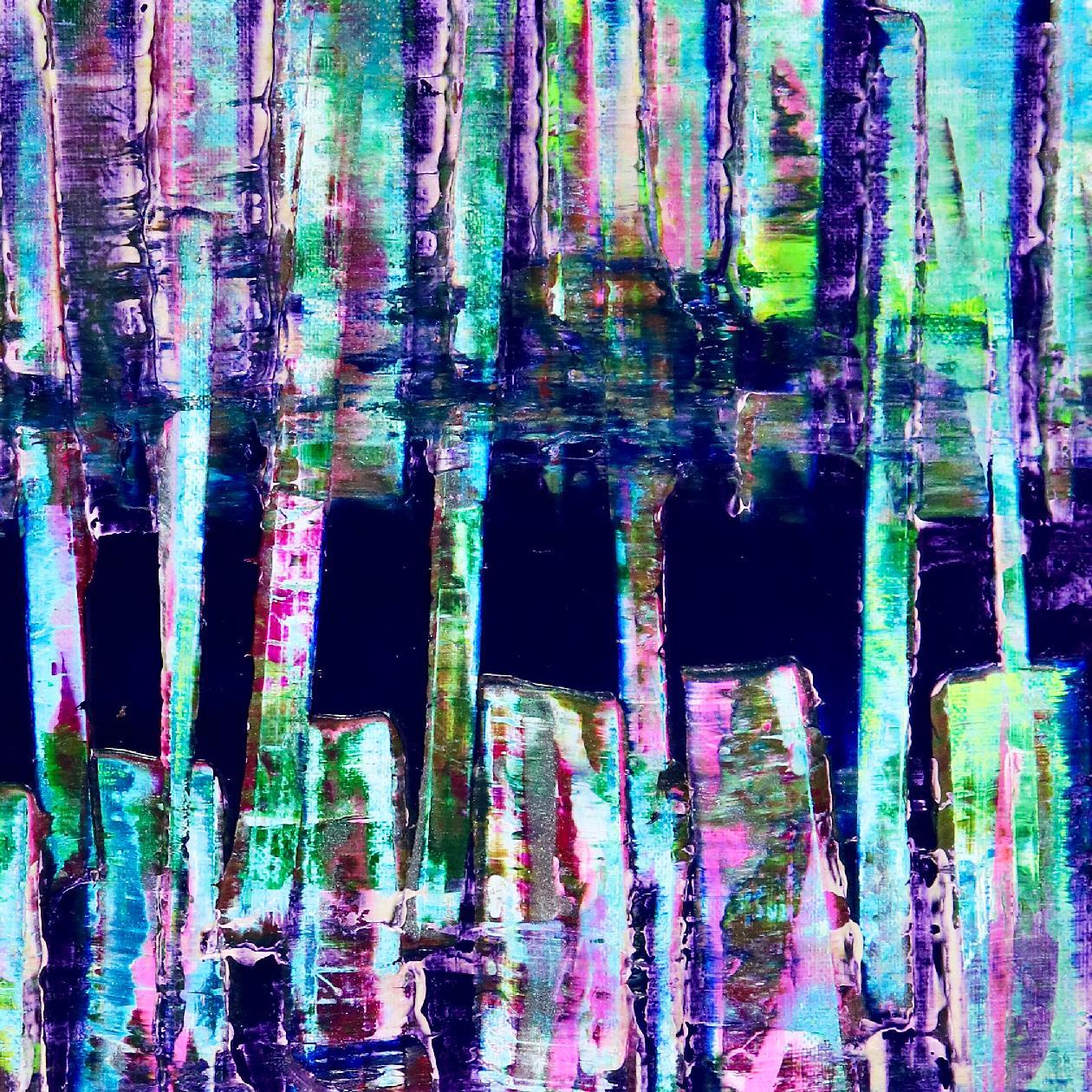 Iridescent Panorama (Blue Shapes) (2020) by Nestor Toro