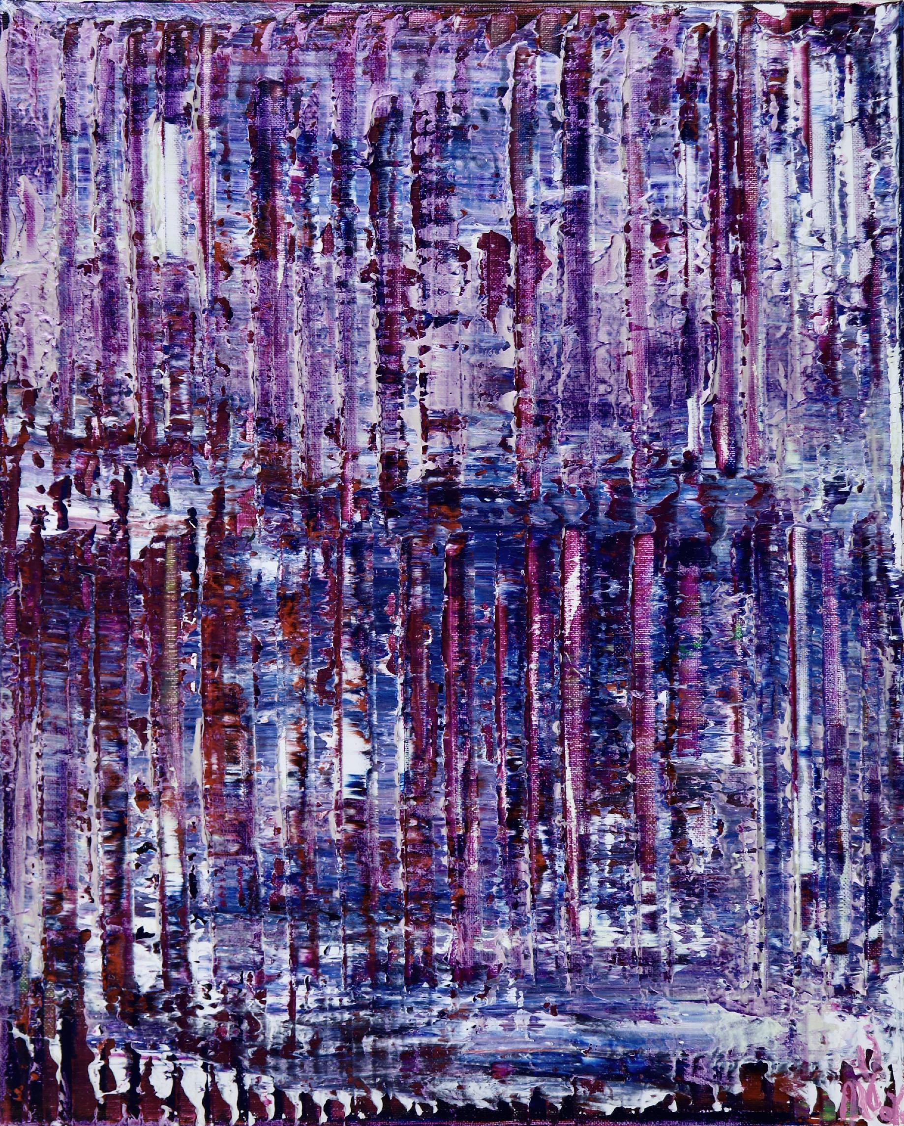Full Canvas - Purple Panorama (Purple Lights) 2020 by Nestor Toro