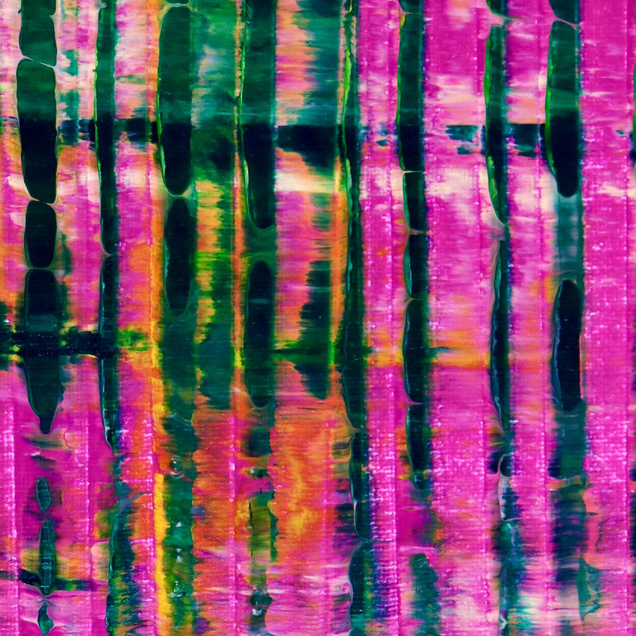 Detail - Pink Refractions (Green Textures) 2 (2020) by Nestor Toro