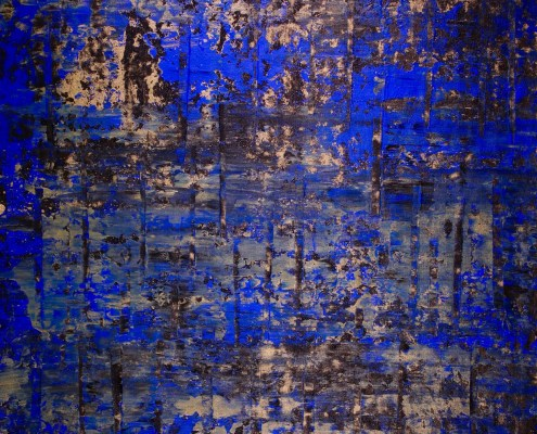 SOLD - Golden Shadows Over Royal Blue (2018) by Nestor Toro