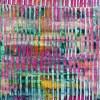 Pink Refractions (Green Textures) 1 (2020) by Nestor Toro