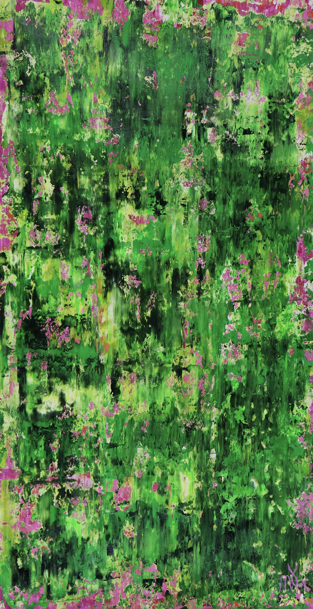 Full Canvas - Room View - Verdor (A Romance With Green) 3 by Nestor Toro