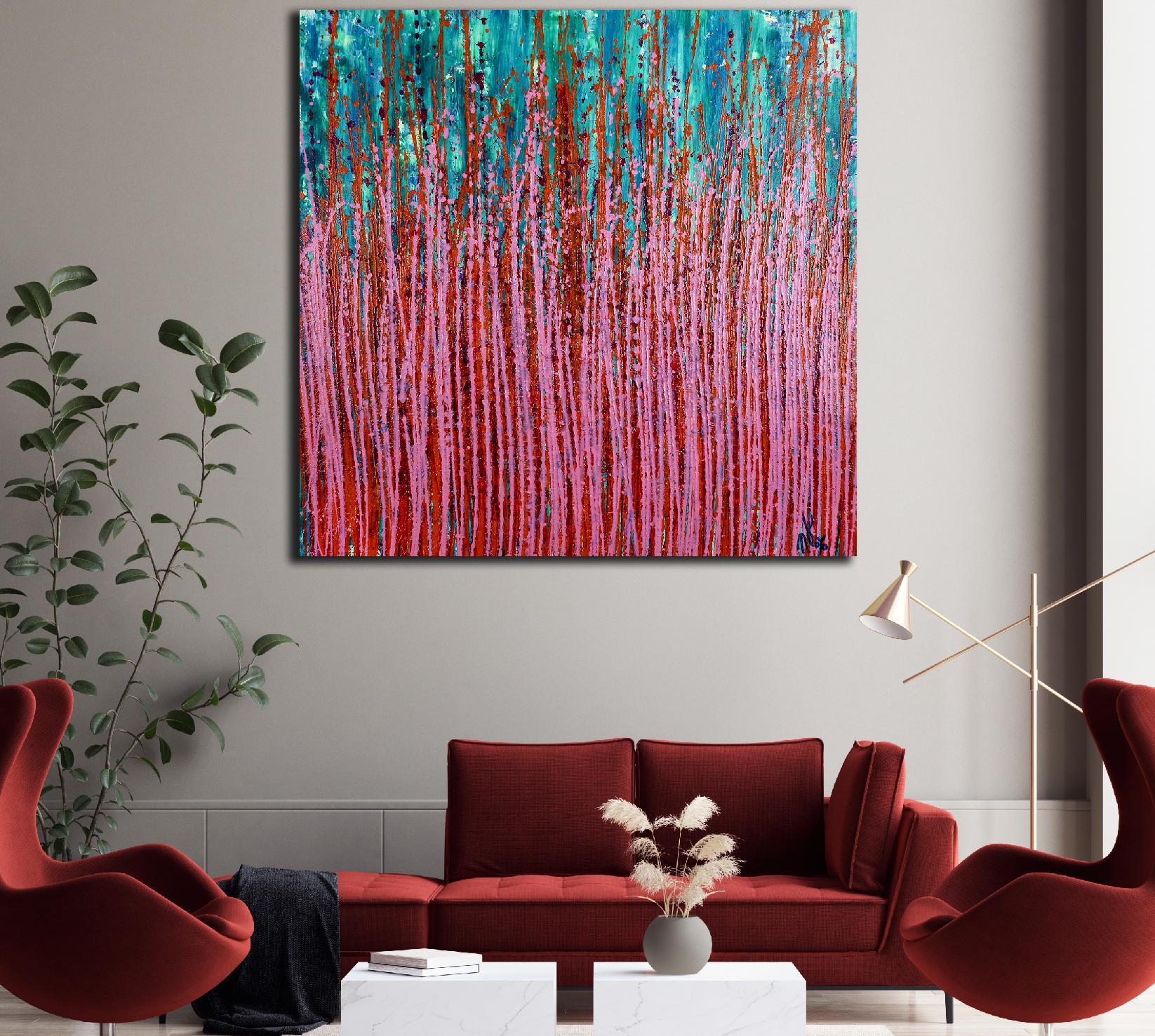 Room View - Pink Synergy (Fantasy Garden) 2 by Nestor Toro