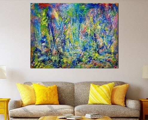 SOLD Abstract - Wild Dreams in L.A. by Nestor Toro