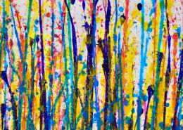Detail of SOLD Abstract Blooming Garden (Flow Spectra) by Nestor Toro