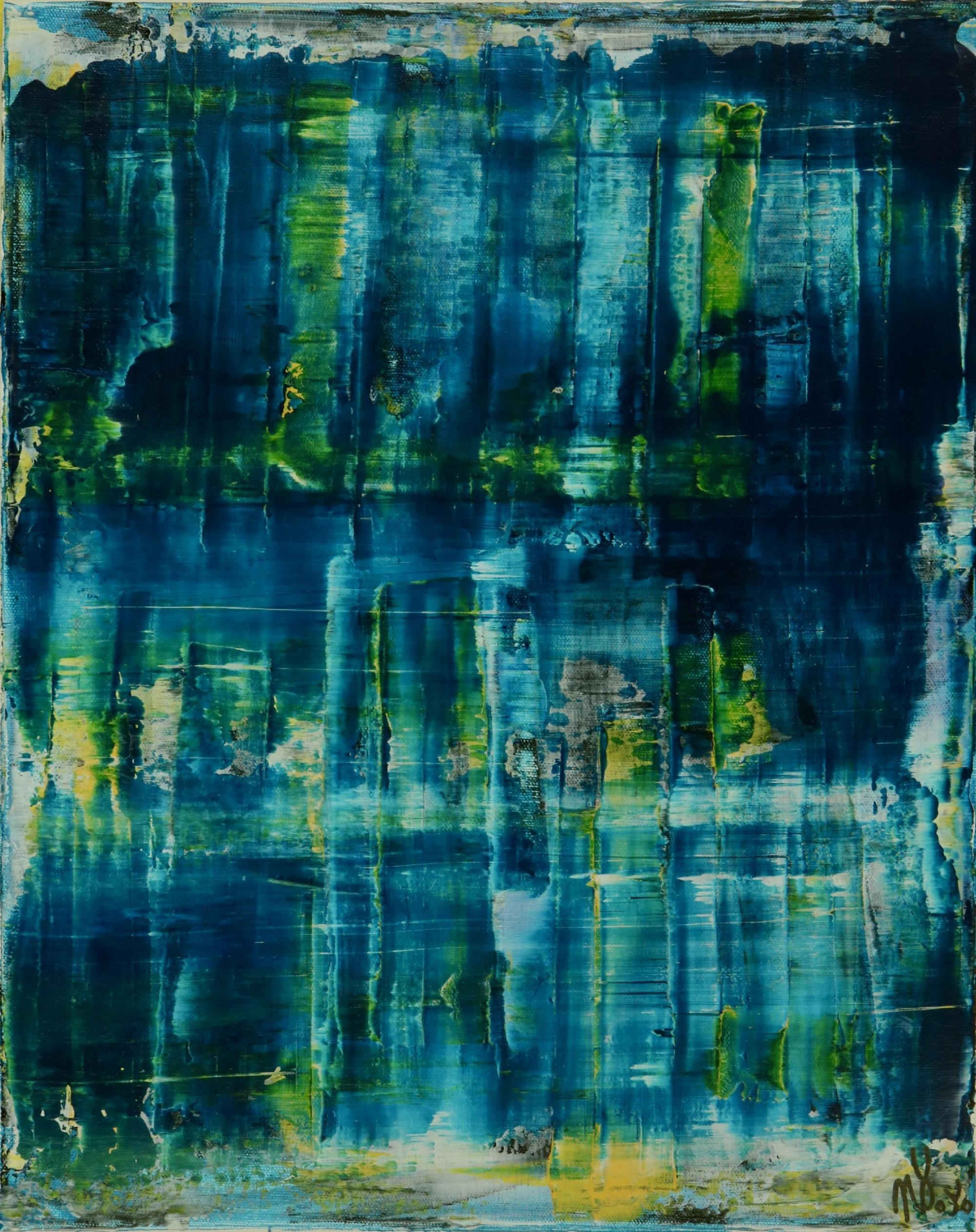 Full Canvas - Emerald Forest Spectra 1 by Nestor Toro