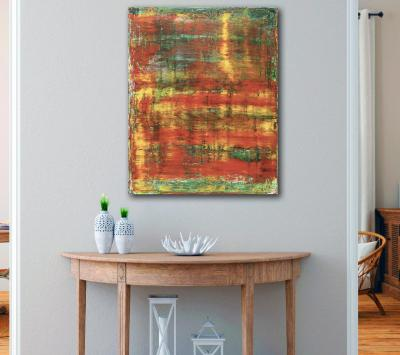 Room View - Rojo Infinito (Fiery Spectra) #1 (2020) by Nestor Toro - SOLD