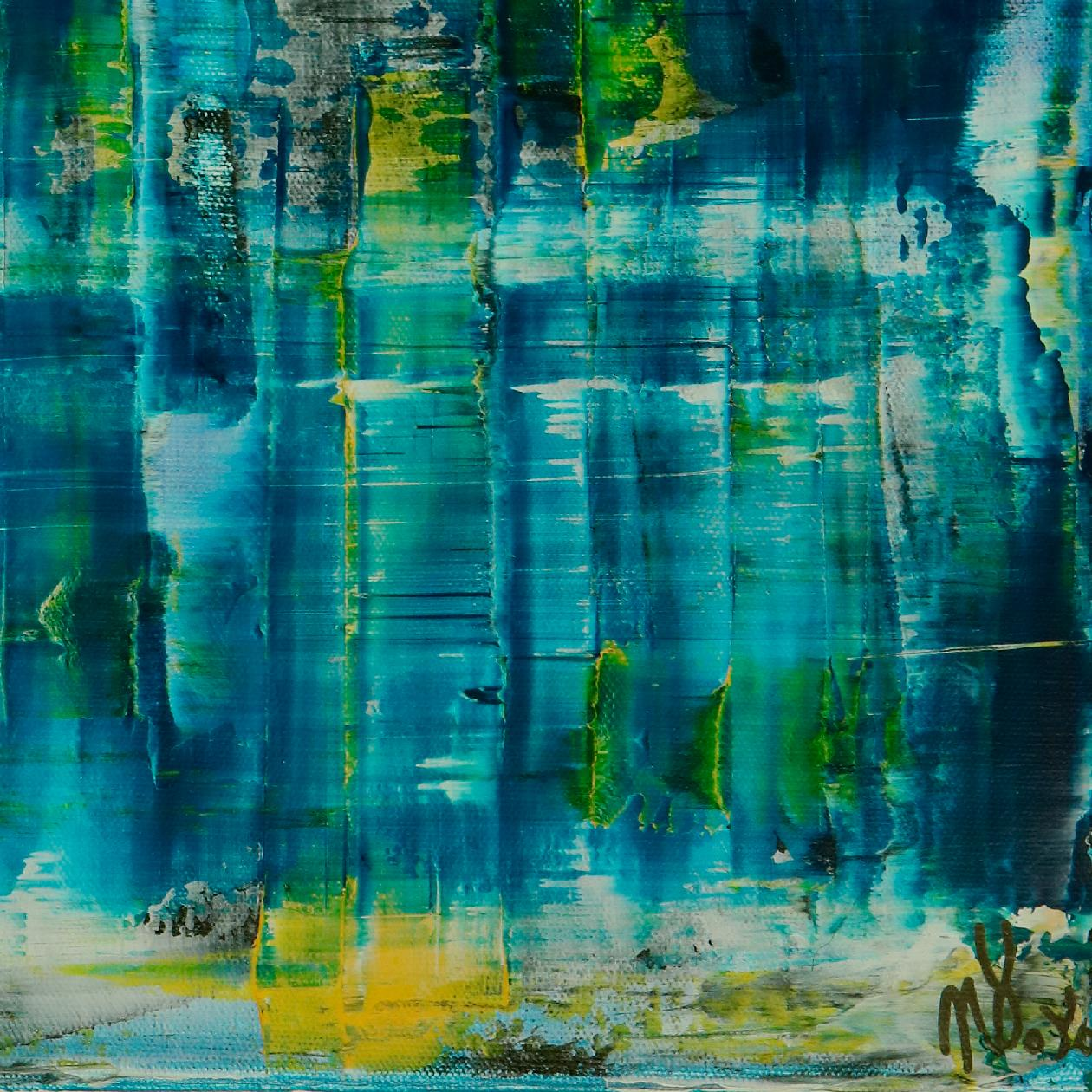 Signature detail - Emerald Forest Spectra 1 by Nestor Toro