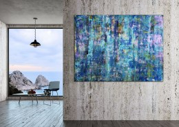 SOLD - A majestic ocean (Blue Depth) (2020) by Nestor Toro