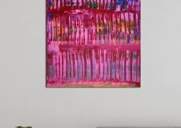 SOLD - Pink takeover (Blue Lights) (2020) by Nestor Toro