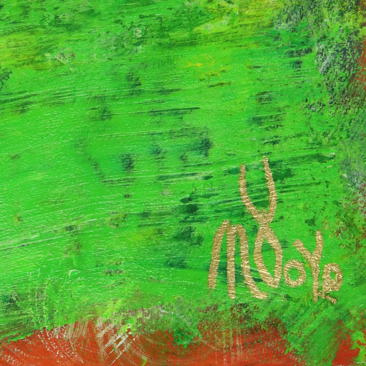 Signature Detail - A Green Oasis - Abstract on paper (2020)