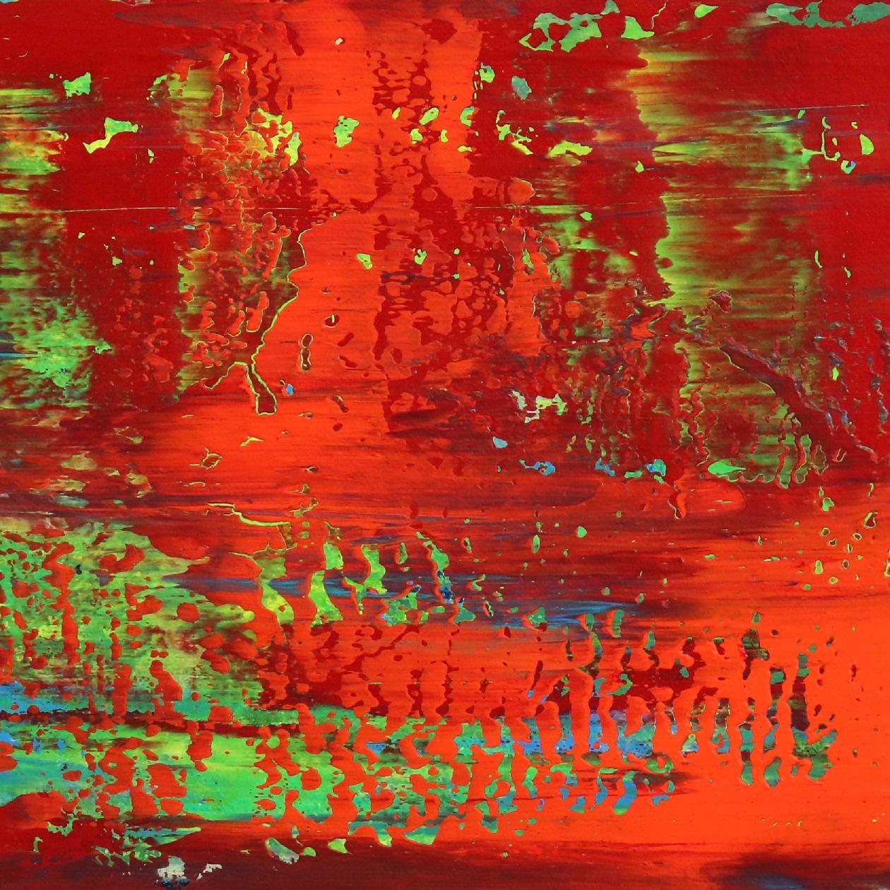 Detail - Rojo infinito (Fiery abstract) 6 (2020) by Nestor Toro