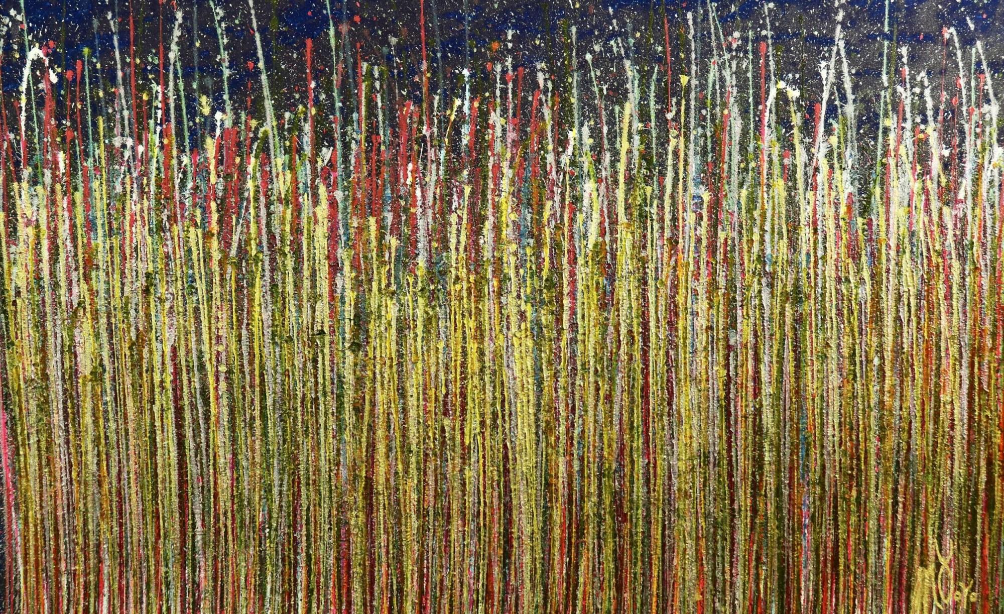 SOLD - Full Camvas - A closer look (Luminance garden) 2 Painting by Nestor Toro
