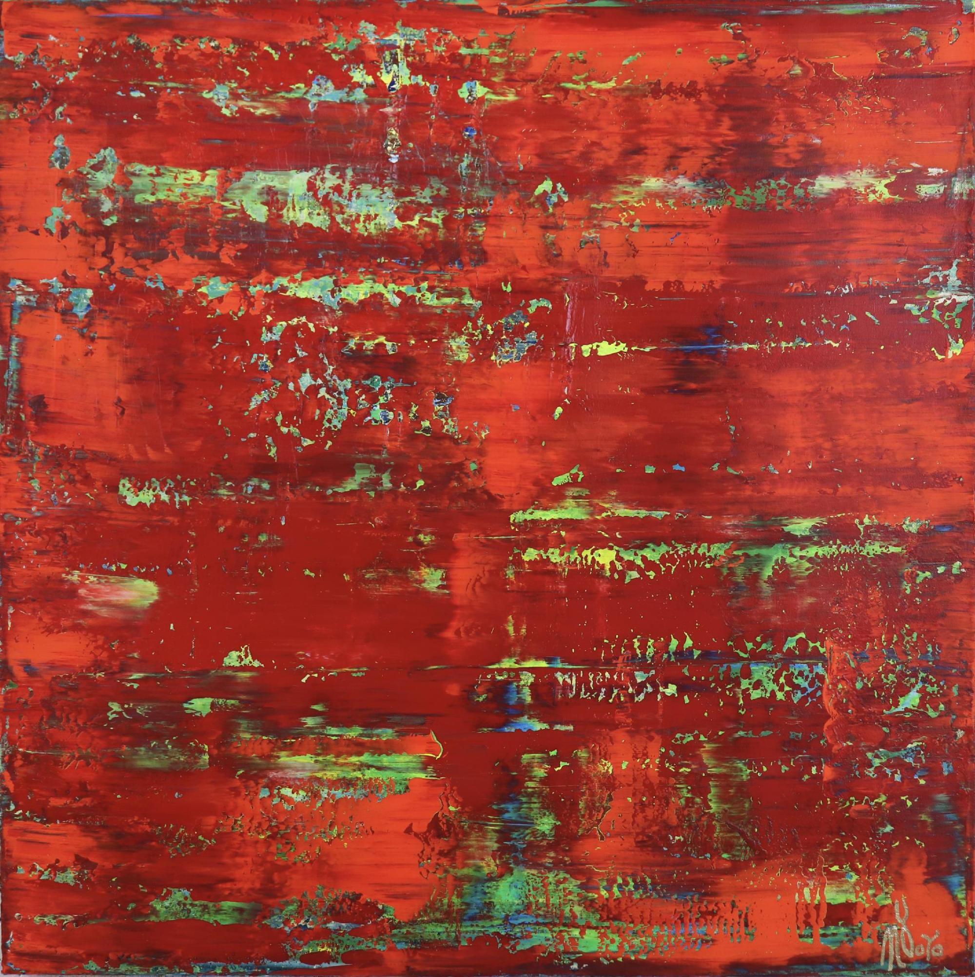 Full Canvas - Rojo infinito (Fiery abstract) 6 (2020) by Nestor Toro