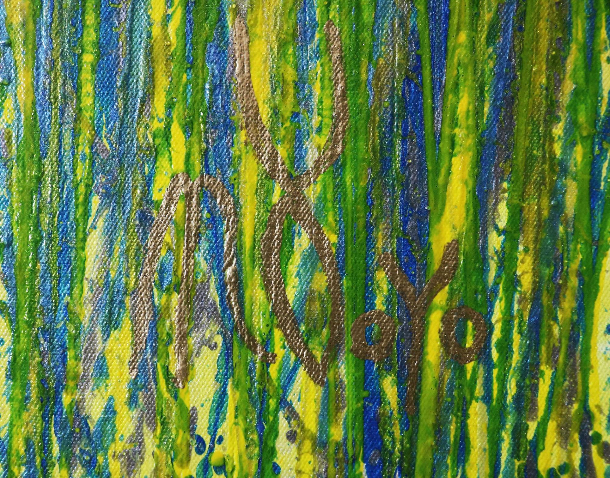 Signature - Detail - A closer look (Luminance garden) 4 (2020) by Nestor Toro