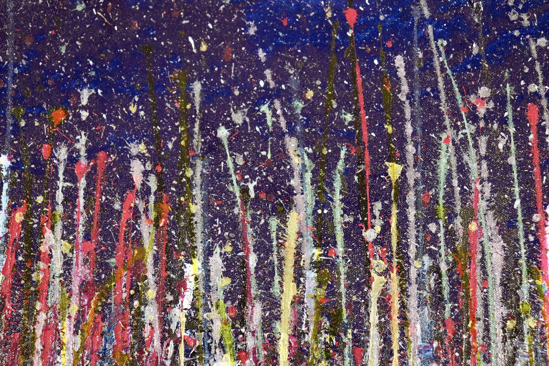 SOLD - Detail - A closer look (Luminance garden) 2 Painting by Nestor Toro