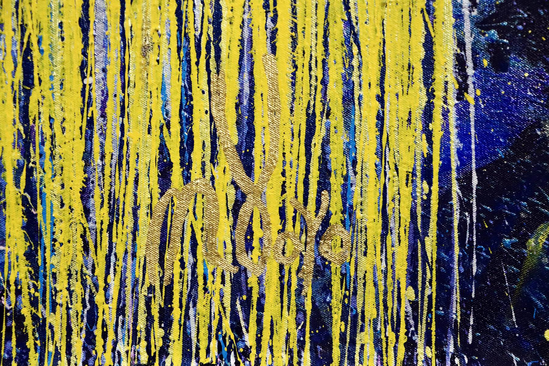 Signature - Detail - Thunder silhouettes (Golden Spectra) 2 (2020) by Nestor Toro / SOLD