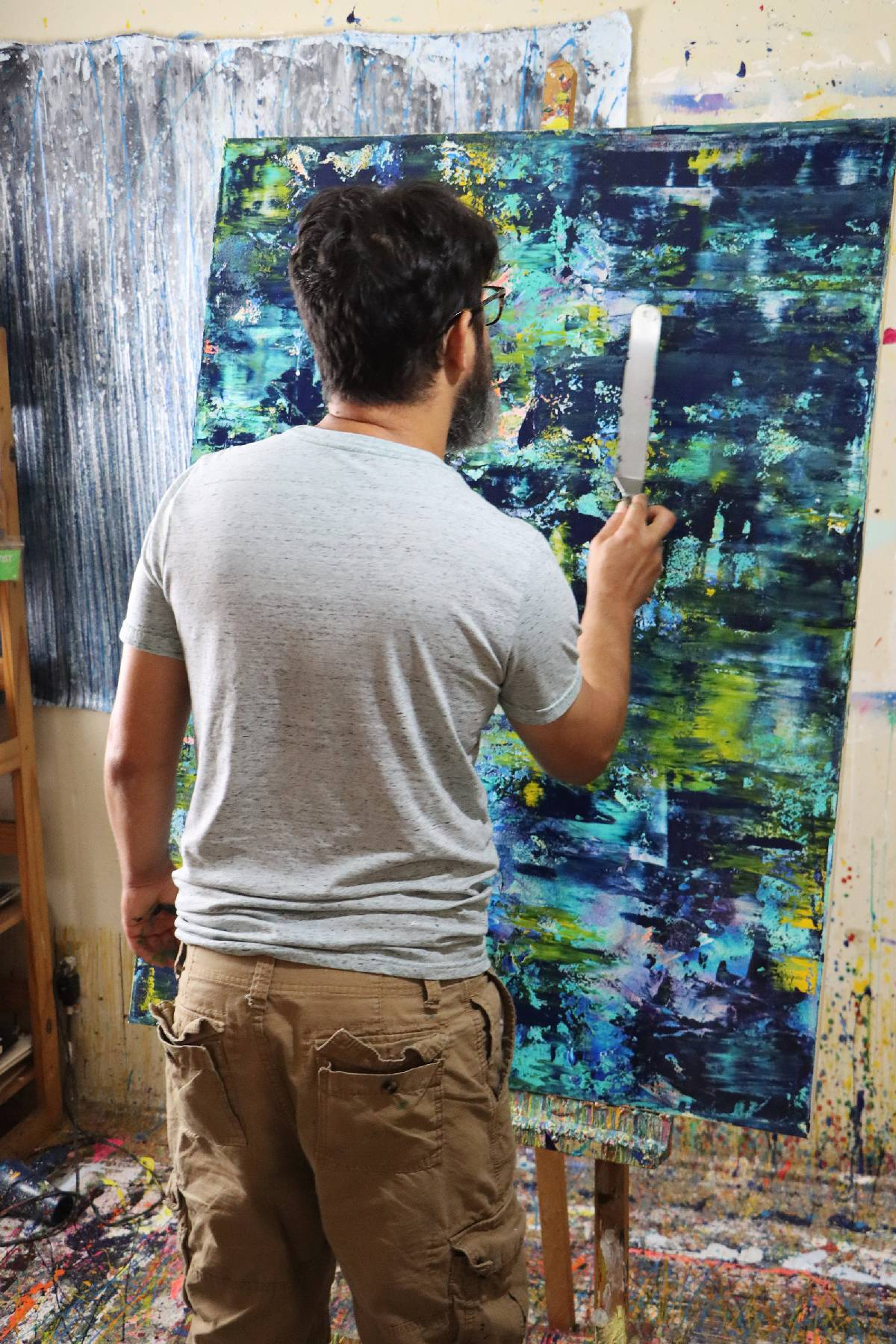 Artist Nestor Toro and his work - Deep Forest Secrets (2020)