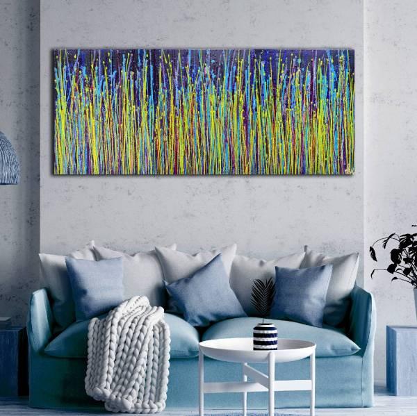 Room View - Full Triptych - Feels like forever (2020) by Nestor Toro
