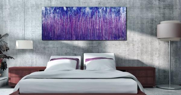 Room View - Purple Spectra (Silver skies) (2020) by Nestor Toro