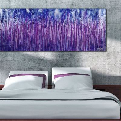Room View - Purple Spectra (Silver skies) (2020) by Nestor Toro