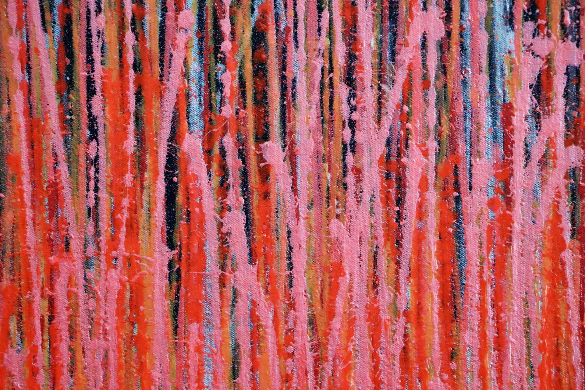 SOLD - Detail - Carmin Spectra ( Florescent Garden) (2020)