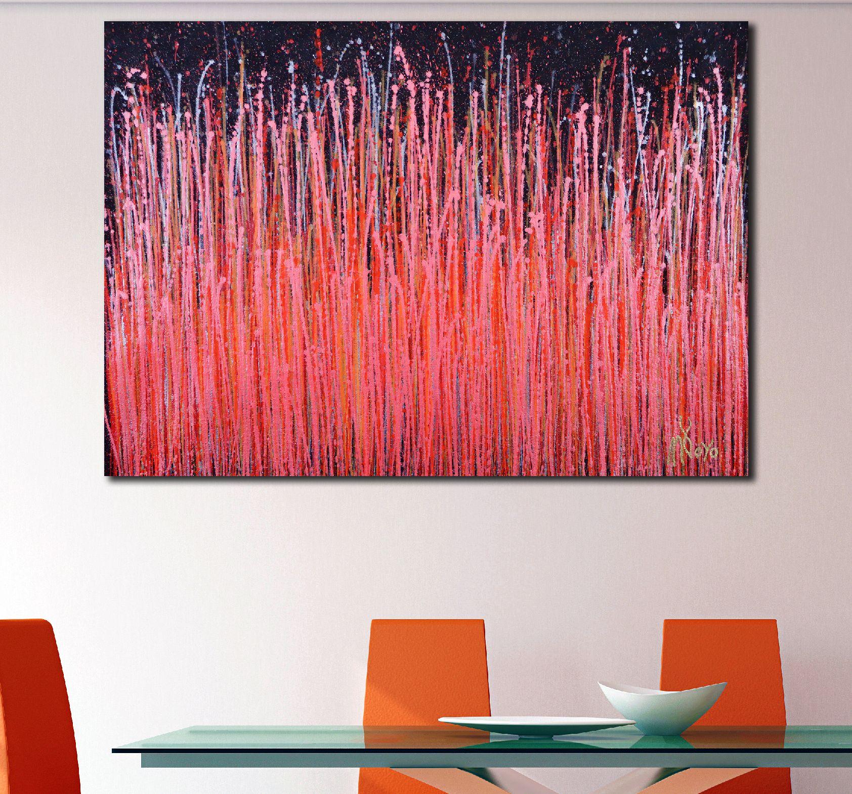 SOLD - Room View - Carmin Spectra ( Florescent Garden) (2020) by Nestor Toro