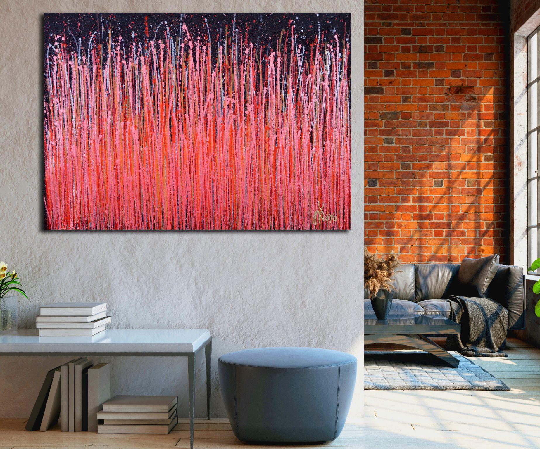 SOLD - Room View - Carmin Spectra ( Florescent Garden) (2020)