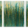 Crystal Down (Forest Green) (2020) / Triptych / West Hollywood