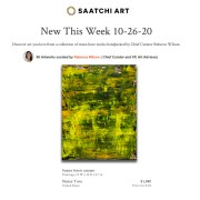 Nestor Toro's work - Sunny Forest Canopy featured in Saatchi Art's Chief Curator's New This Week - October 26, 2020 collection!