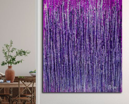 Room View - Lavish Purple Spectra (2020) by Nestor Toro