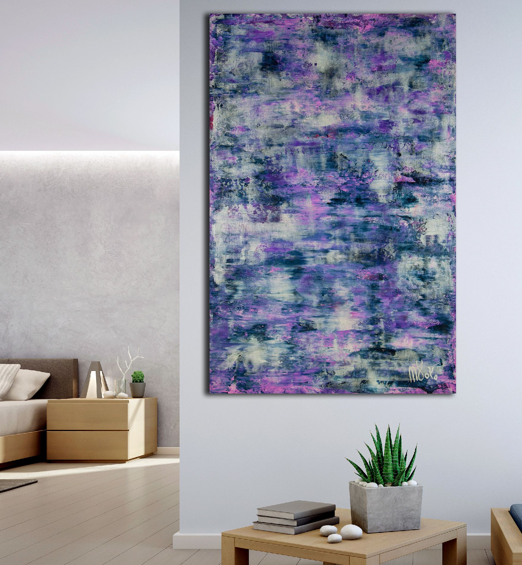 Room View / Silver Clouds (Over Purple) / (2020) by Nestor Toro