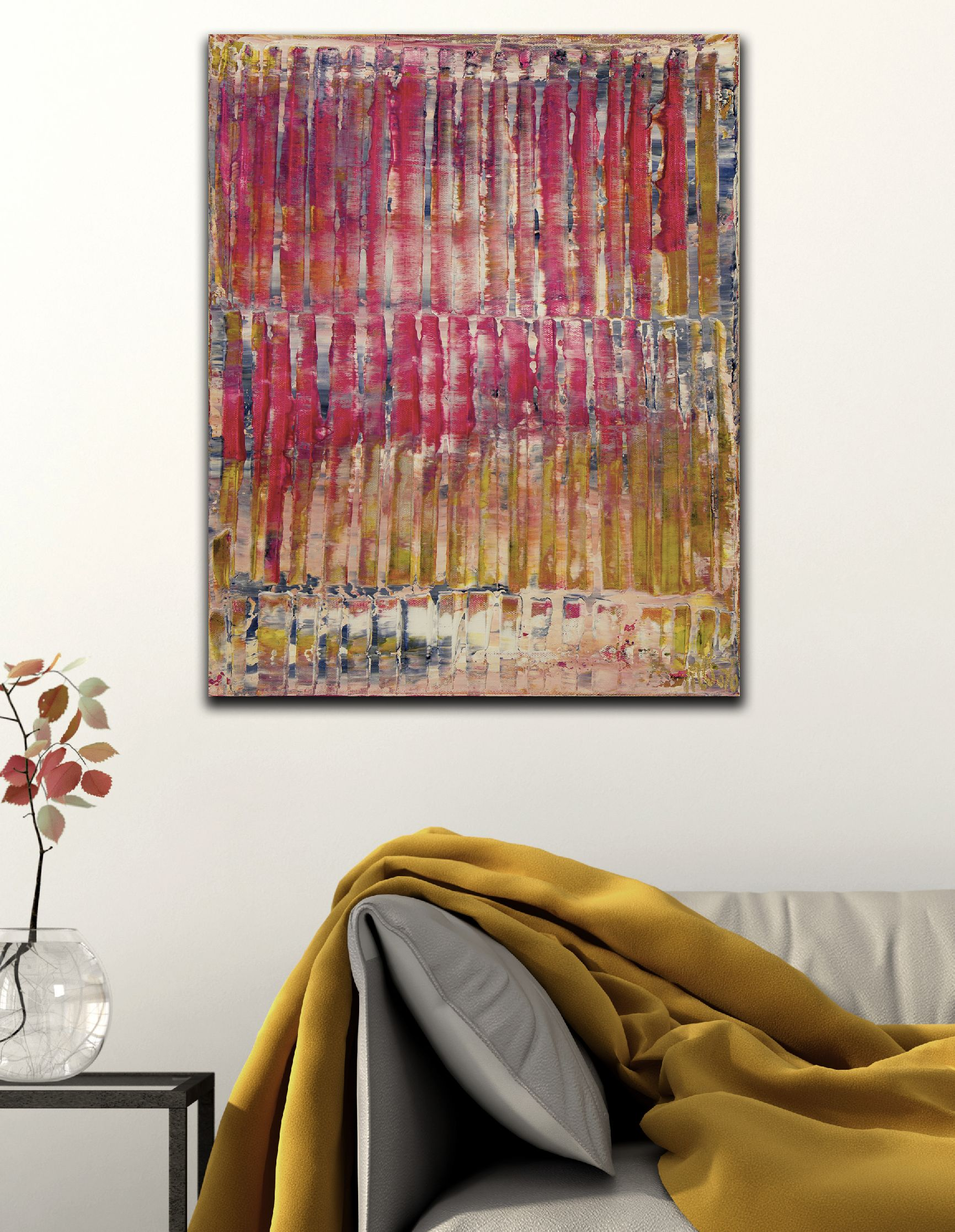 Room View - Pink Spectra and Lights 3 (2020) by Nestor Toro