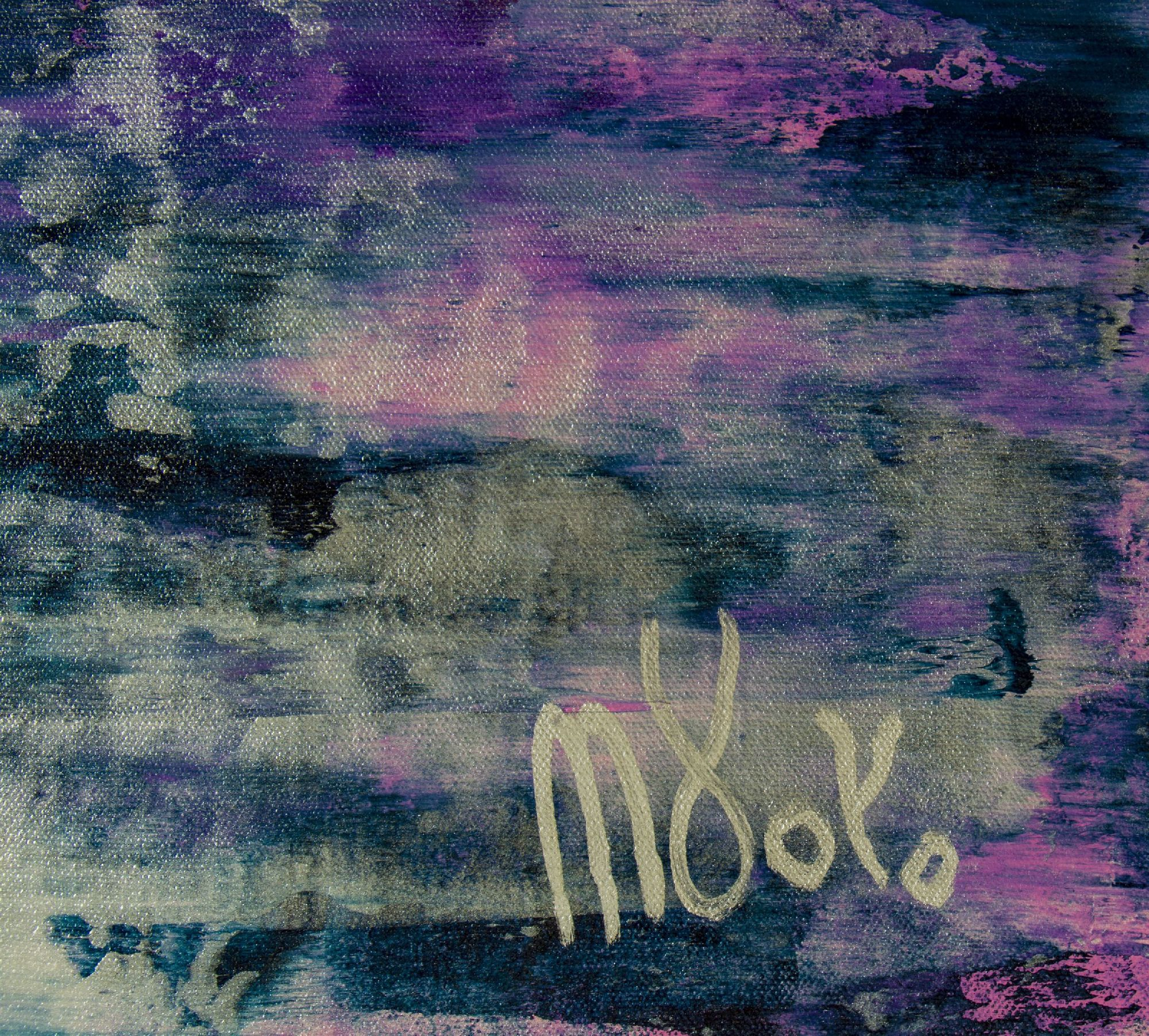 Signature / Silver Clouds (Over Purple) / (2020) by Nestor Toro