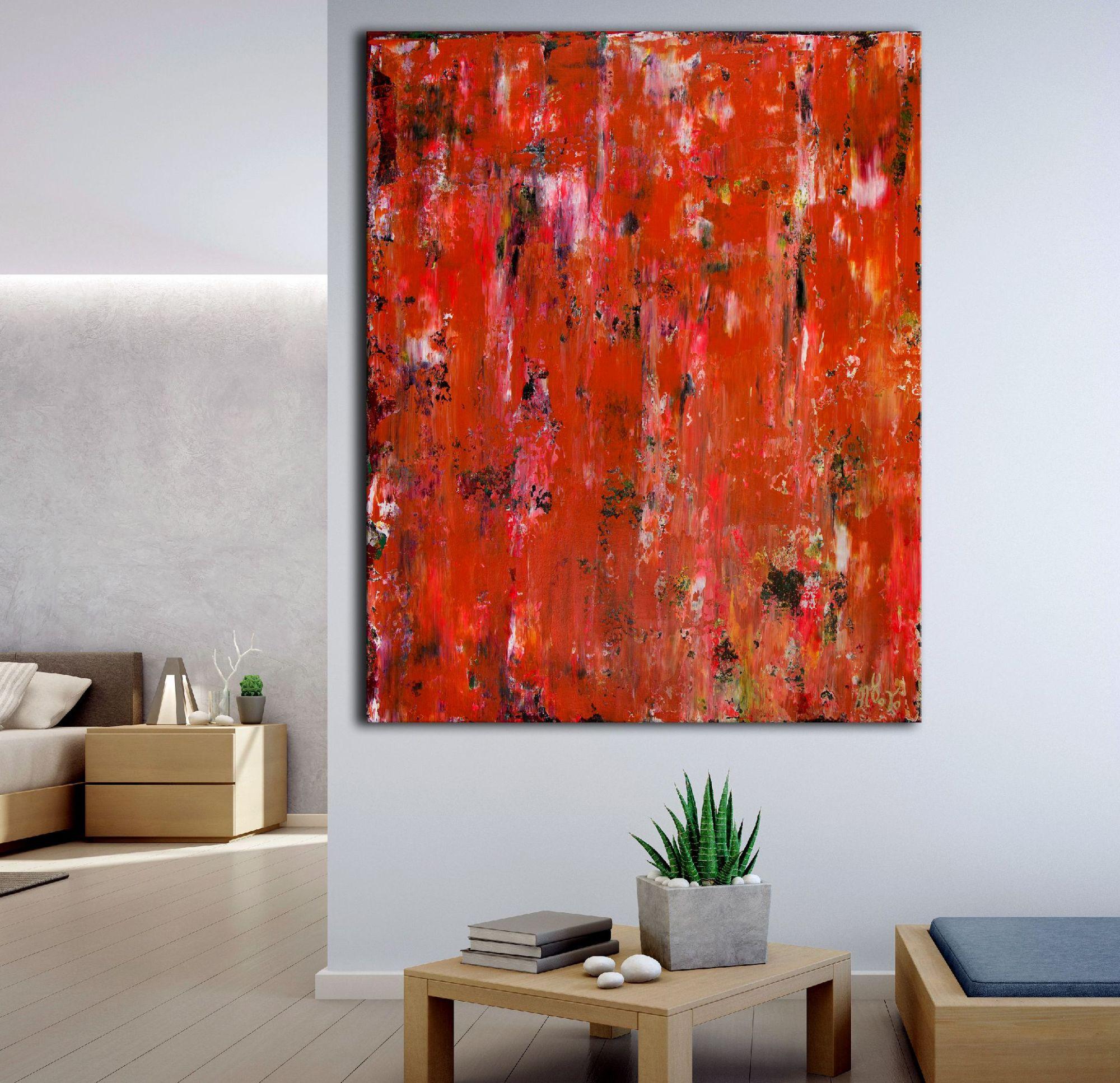 Terrain In Orange and Rust (2020) by Nestor Toro / Los Angeles