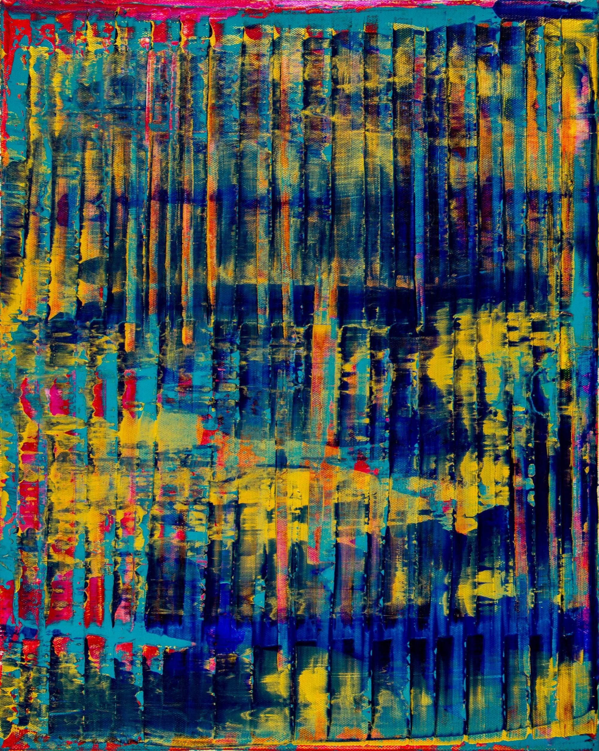 Canvas #1 / Breeze Intrusion (Gold Cracks) 2020 / Triptych by Nestor Toro