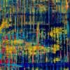 SOLD / Canvas #1 / Breeze Intrusion (Gold Cracks) 2020 / Triptych by Nestor Toro