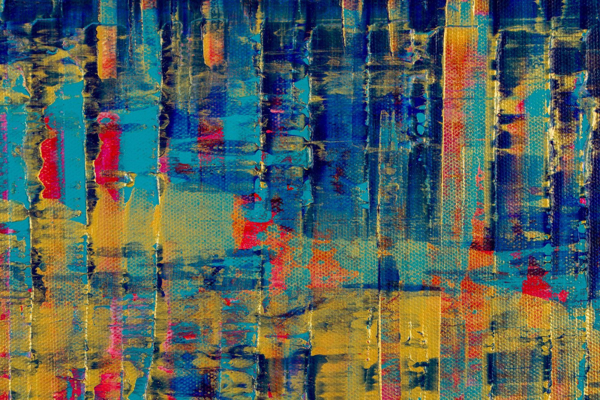 Detail / Breeze Intrusion (Gold Cracks) 2020 / Triptych by Nestor Toro