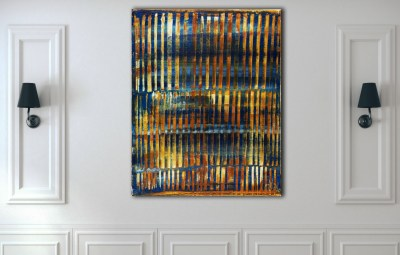 Orange Panorama (Blue Reflections) 2 (2020) by Nestor Toro